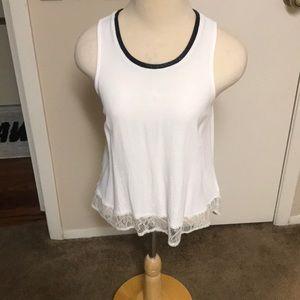 Nordstrom white sleeveless blouse